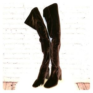 Jeffrey Campbell Cienega Over The Knee Suede Boots